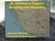 BC Advances in Organics Recycling and Composting