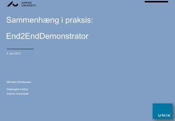 Sammenhæng i praksis: End2EndDemonstrator - Partnerskabet UNIK
