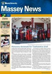 Honorary doctorate for Tuwharetoa chief - Massey University