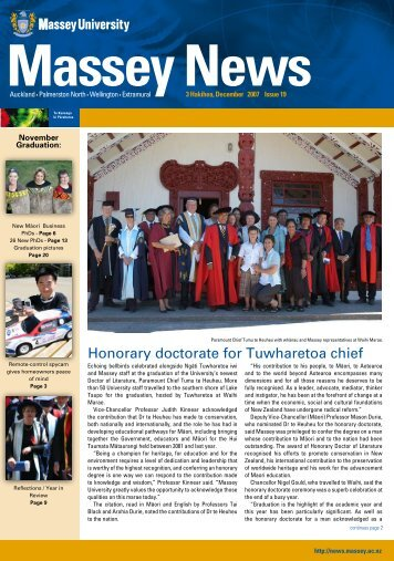 Honorary doctorate for Tuwharetoa chief - Massey University