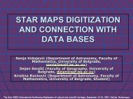 star maps digitization and connection with data bases - SEEDI