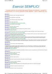Esercizi SEMPLICI - ITIS G. Galilei