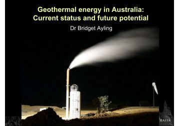 What is geothermal energy? - Geoscience Australia
