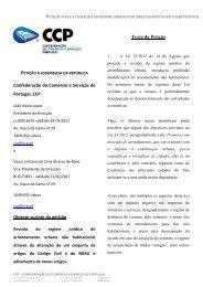 Petição para alteração do regime jurídico do ... - VectWeb SM