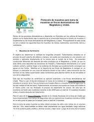 Protocolo muestreo Magdalena y Uraba