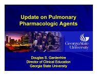Update on Pulmonary Pharmacologic Agents - Foocus