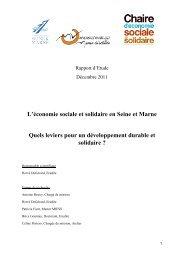 L'économie sociale et solidaire en Seine et Marne Quels ... - L'Atelier