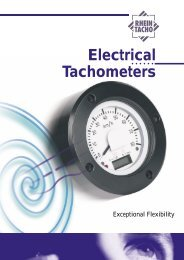 Electrical Tachometers - RHEINTACHO Messtechnik GmbH
