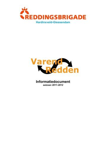 Informatiedocument - Hardinxveld Giessendamse Reddingsbrigade