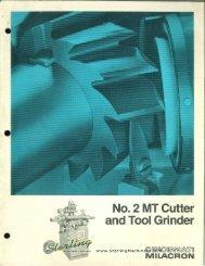 Cincinnati no2 MT Cutter and Tool Grinder Brochure - Sterling ...