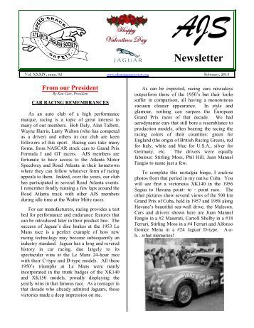AJS Newsletter - The Car Nut