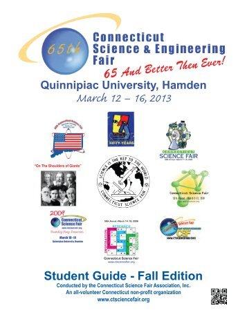 2013FallGuide - Connecticut State Science Fair