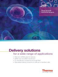 Transfection Reagents Product Brochure - Thermo Scientific