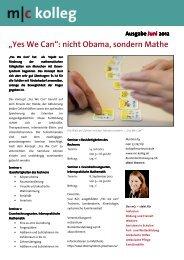 """""""Yes We Can"""": nicht Obama, sondern Mathe"""
