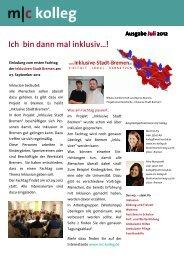 Newsletter kolleg Ausgabe Juli 2012 1