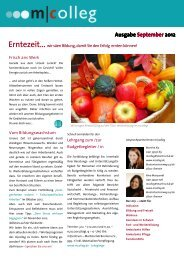 Ausgabe September 2012 - m|colleg