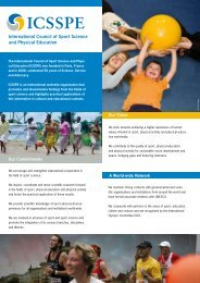 ICSSPE Flyer - International Council of Sport Science and Physical ...