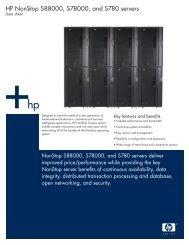 HP NonStop Modular I/O subsystem data sheet - PDF (August 2004)