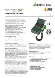 Prüfgerät DIN VDE 0100 - MC Technologies