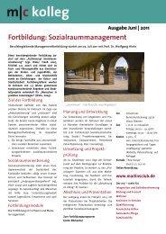 Fortbildung: Sozialraummanagement