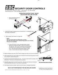 453PV Security Door Controls Push Sw Pneumatic Timer 628