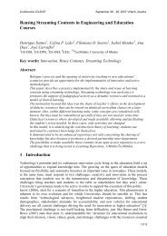 Reusing Streaming Contents in Engineering and Education ... - ICL