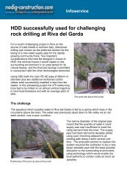 HDD successfully used for challenging rock drilling at Riva del Garda