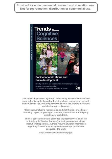 Socioeconomic Status And Developing >> Socioeconomic Status And The Developing Brain