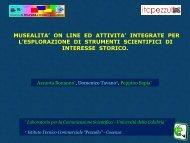 Musealità on line ed attività integrate per l'esplorazione di strumenti ...