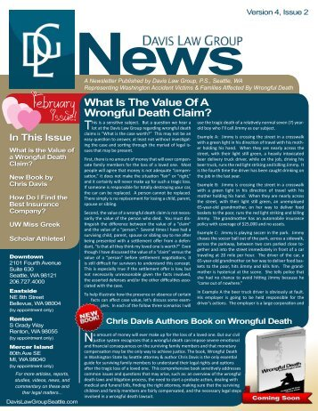 Version 4, Issue 2 - Davis Law Group Newsletter - February 2010