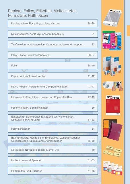 Papiere Folien Etiketten Visitenkarten Formulare Medea