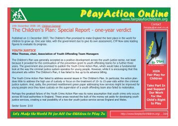 PlayAction OnLine PlayAction OnLine - Fair Play For Children