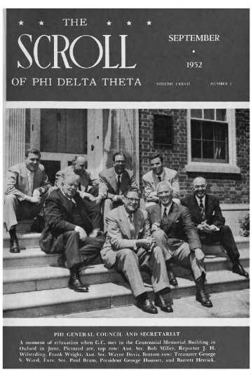 1952–53 Volume 77 No 1–5 - Phi Delta Theta Scroll Archive