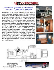 #547 sales sheet - Westside Motorcoach