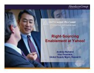 Right-Sourcing Enablement at Yahoo! - Summit