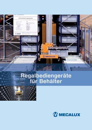 Regalbediengeräte Behälter GER - Mecalux