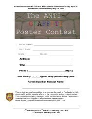The ANTI- GRAFFITI Poster Contest - Rochester Police Department