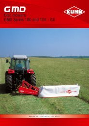 Disc mowers GMD Series 100 and 100 - GII - Interstate Tractor
