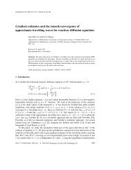 Gradient estimates and the smooth convergence of ... - Xue-Mei Li