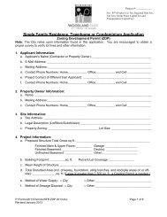 2013 Single Family Residence Zoning Development Permit ...