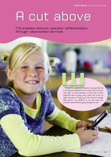 ITS enables network operator differentiation through value-added ...