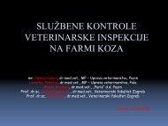 Službene kontrole veterinarske inspekcije na farmi koza