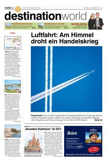 Luftfahrt: Am Himmel droht ein Handelskrieg - MediaNET.at