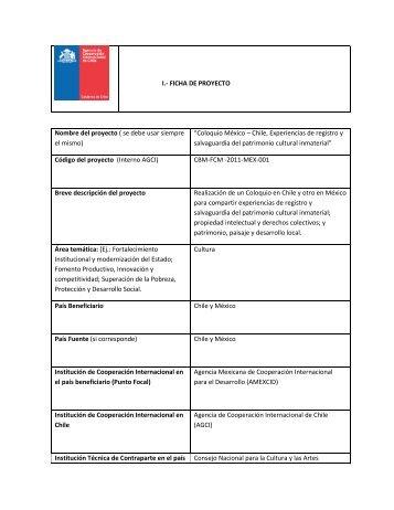FICHA DE PROYECTO Nombre del proyecto - Agencia de ...