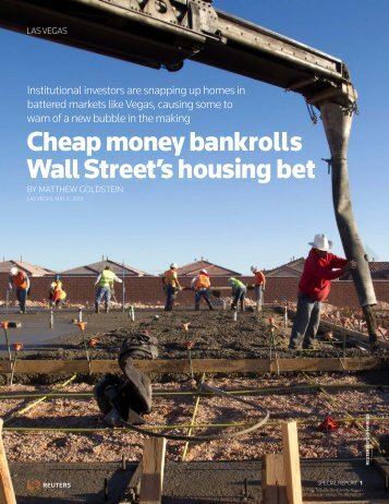 Cheap money bankrolls Wall Street's housing bet - Thomson Reuters
