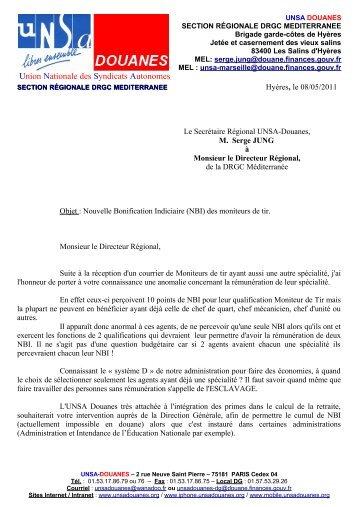 Nouveau bureau r gional lettre au dr unsa douanes for Bureau des douanes 64
