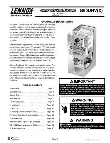g40uh x lennox hvac manuals rh yumpu com lennox gcs16 service manual lennox ms7 service manual