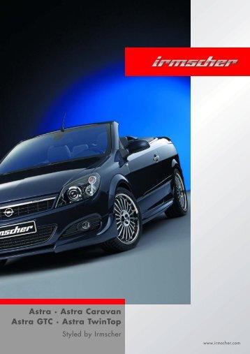 Astra · Astra Caravan Astra GTC · Astra TwinTop - Irmscher