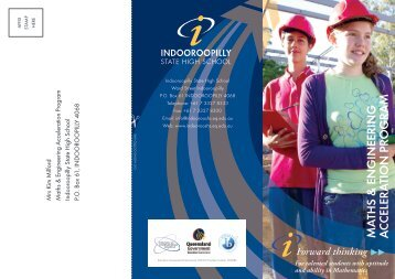 here - Indooroopilly State High School - Education Queensland