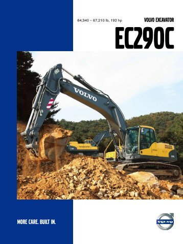 EC290C specifications – English - Volvo Construction Equipment